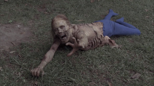 "The scenes video shows special effects behind ""the walking dead"