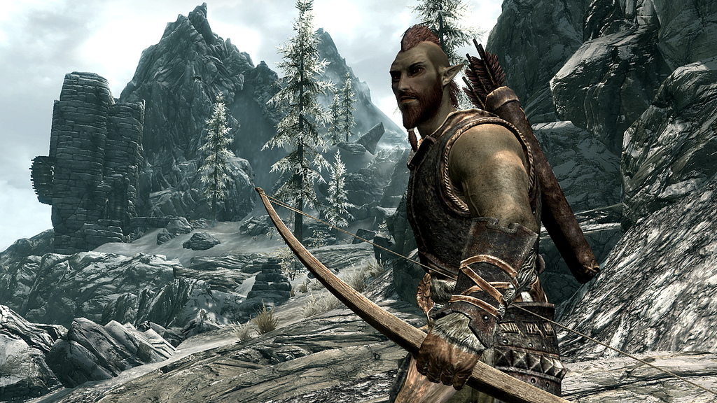 "Bethesda releases new ""skyrim"" playable races screenshots"