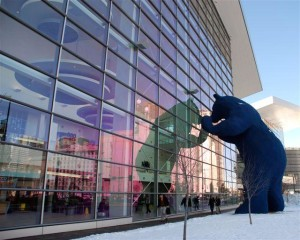 big blue bear - colorado convention center denver