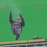 "EXCLUSIVE Anthony Mackie, who plays The Falcon, was spotted on the set of ""Captain America: Winter Soldier"" filming on location in Los Angeles doing his own stunts in front of a giant green screen.  Featuring: Anthony Mackie Where: Los Angeles, CA, United States When: 01 May 2013 Credit: Shinn/JFXimages/Wenn.com"