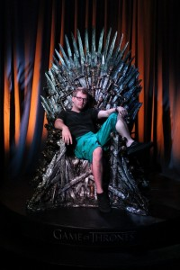 Writer Bryce Hilton on the Iron Throne