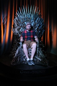 Writer Mike Macauley on the Iron Throne